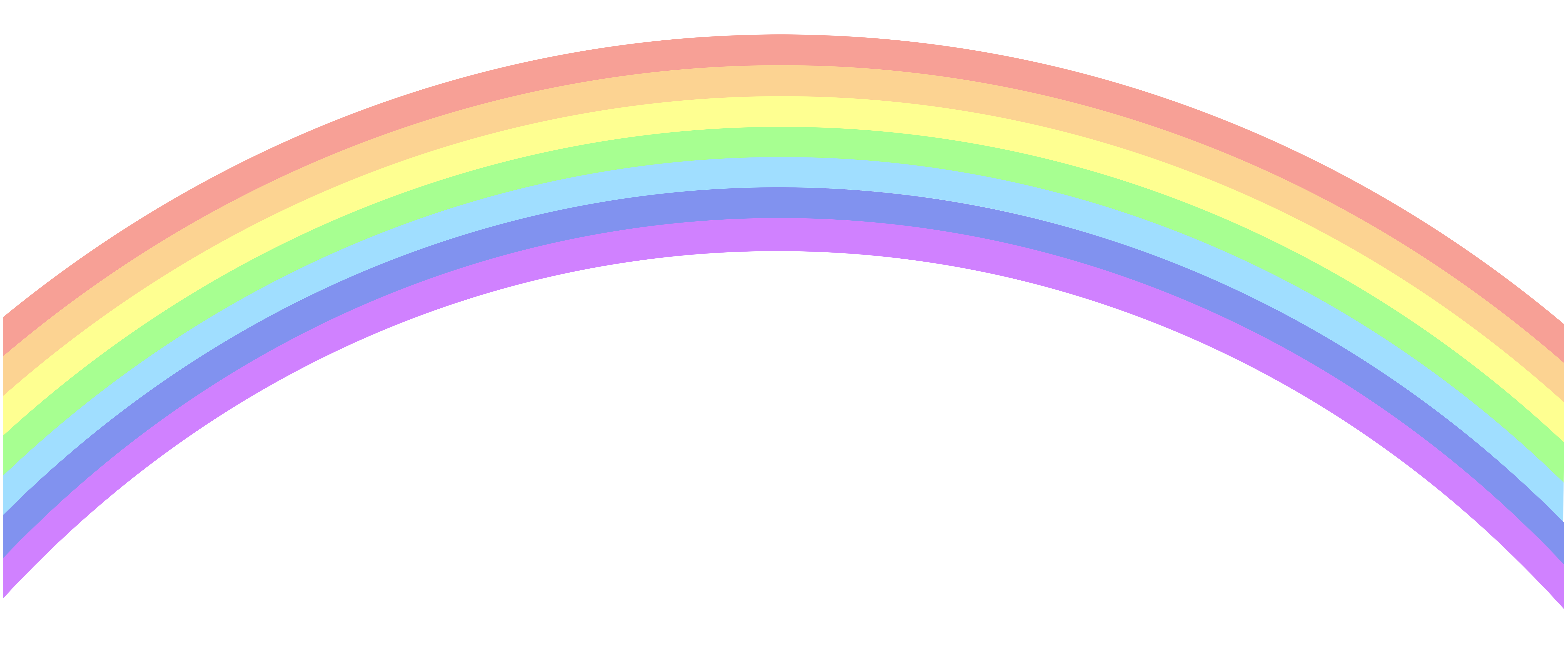 Rainbow Clip Art PNG Image.