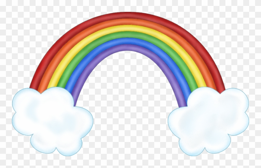 Rainbow With Clouds Clipart K.