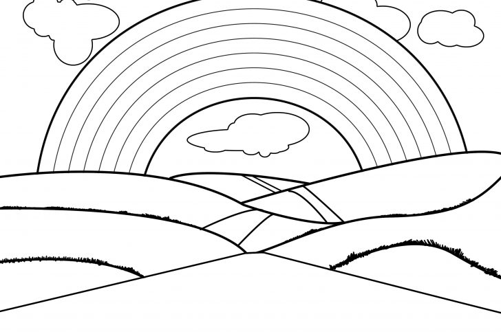 Printable Picture Of A Rainbow To Color With Rainbow Clipart To.