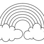rainbow coloring sheet rainbow coloring pages with color words.