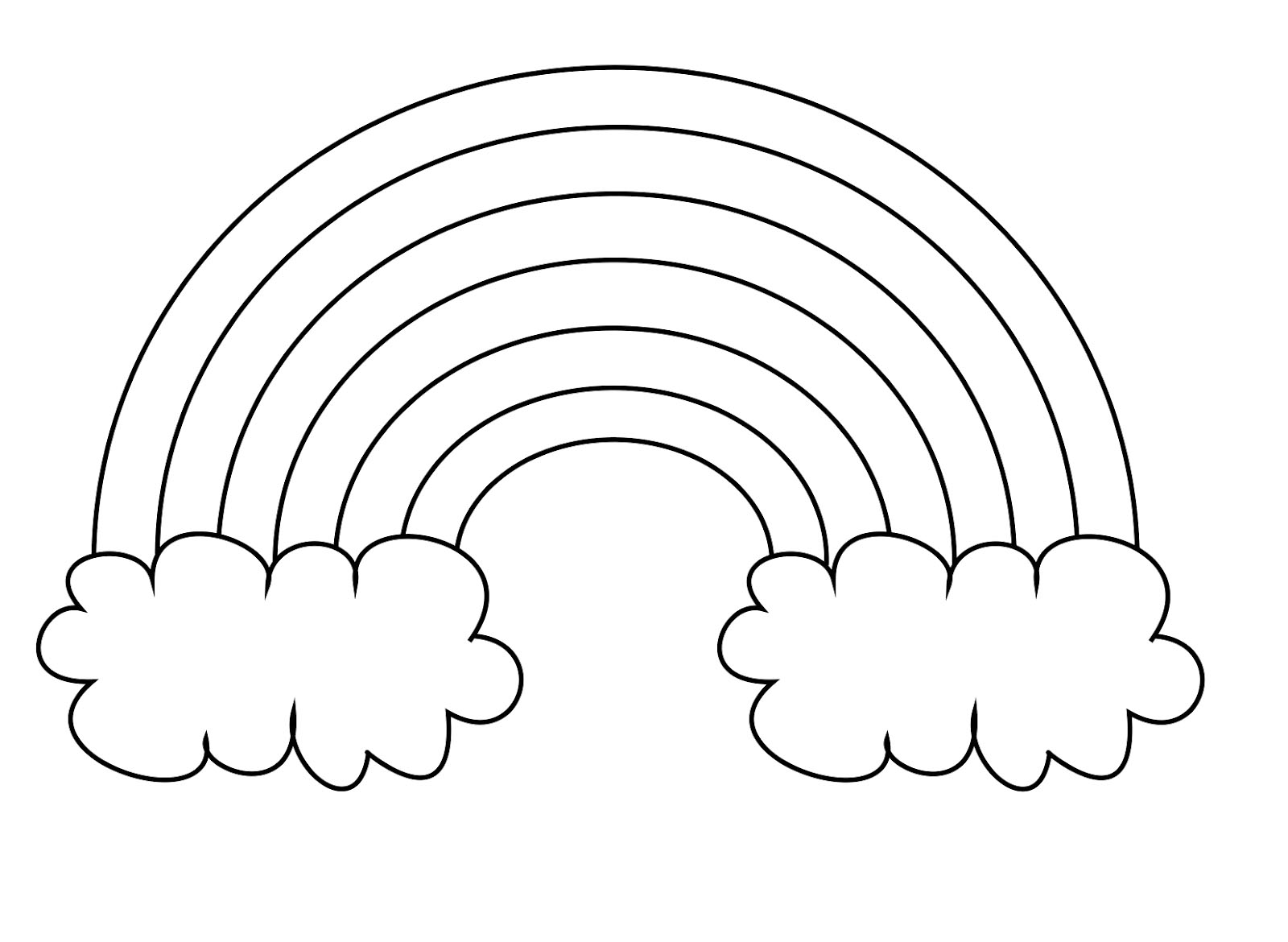 Color Rainbow Coloring Pages color the rainbow RAINBOW COLOR.