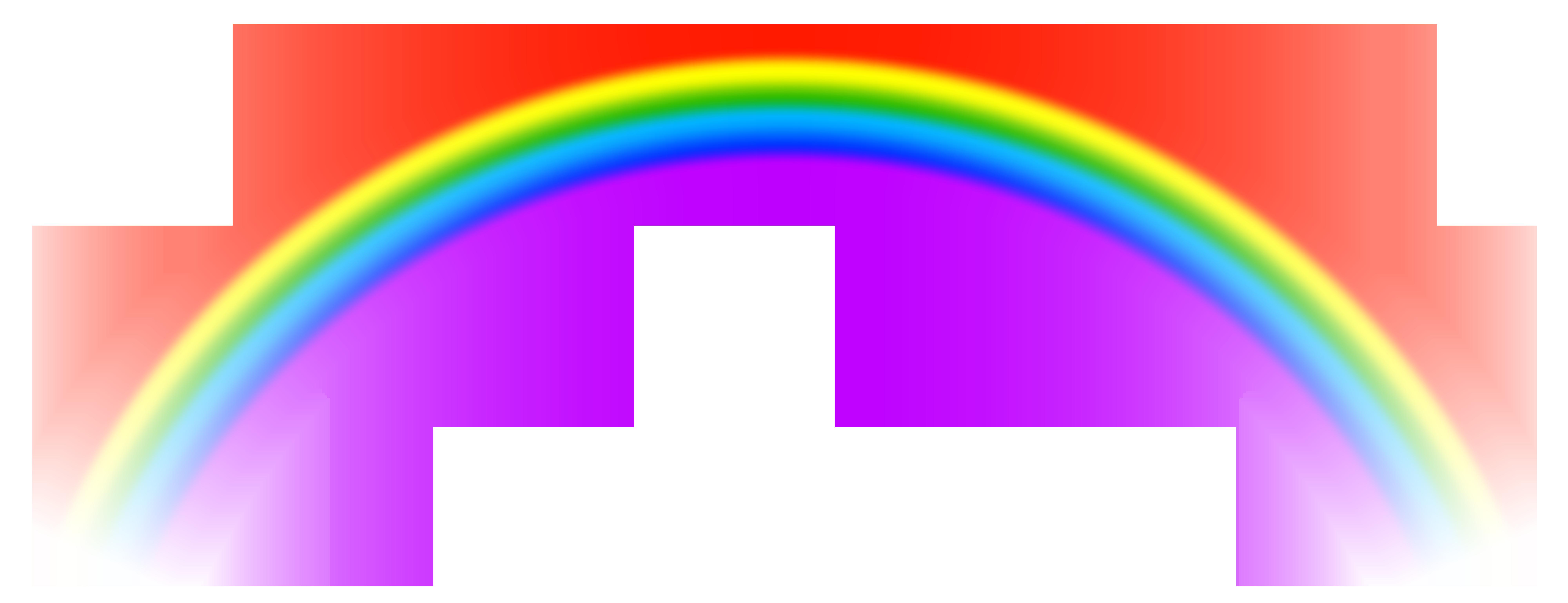 Transparent Rainbow PNG Free Clip Art Image.