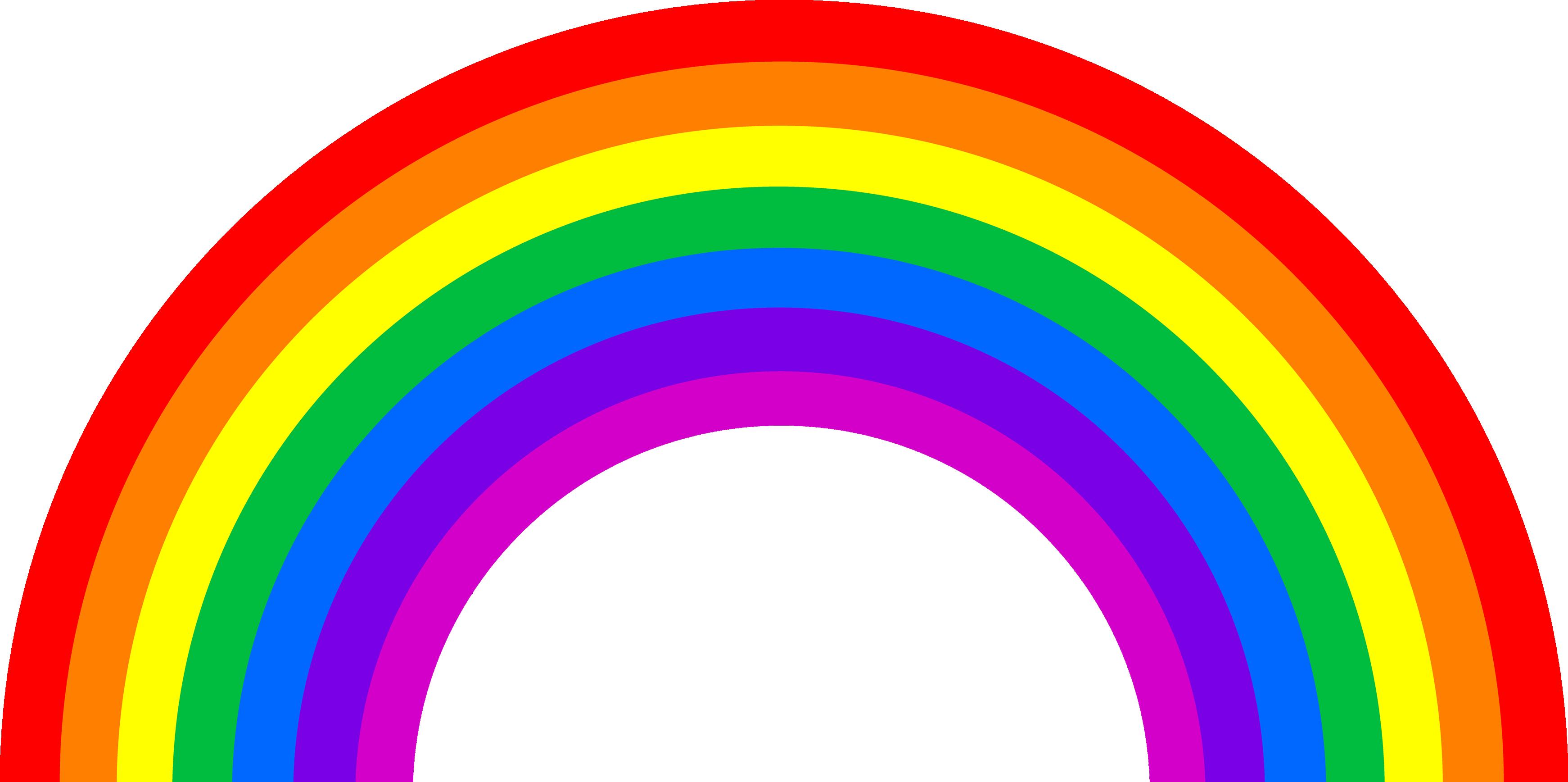 Rainbow Transparent Background.