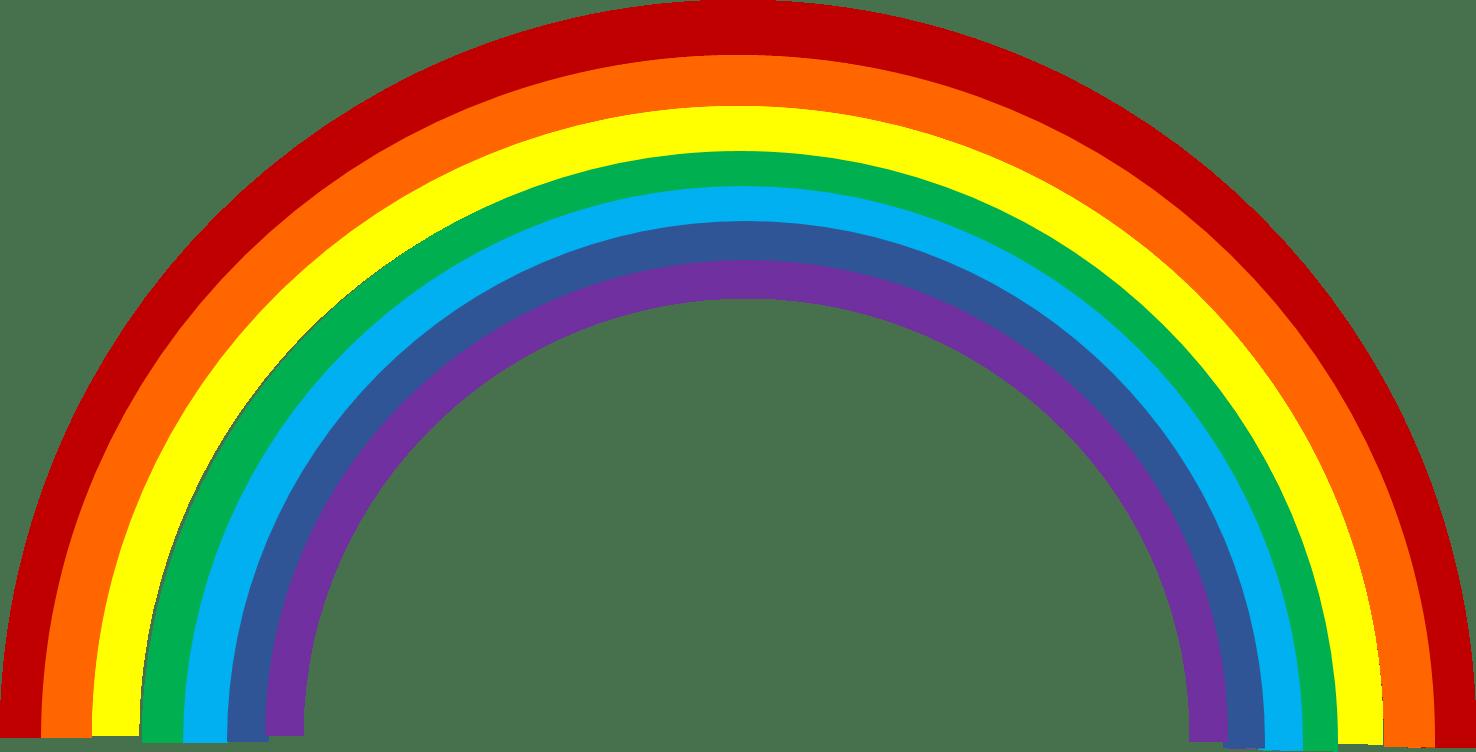 Rainbow clipart transparent background 2 » Clipart Portal.