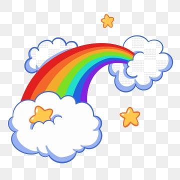 Rainbow Cloud PNG Images.