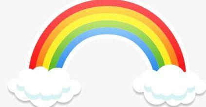Rainbow Clouds PNG, Clipart, Cartoon, Cartoon Rainbow.