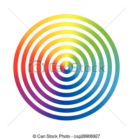 Vector Illustration of Rainbow Colors Circle Rings.