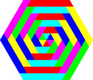 Hexagon Rainbow Colors Clip Art at Clker.com.
