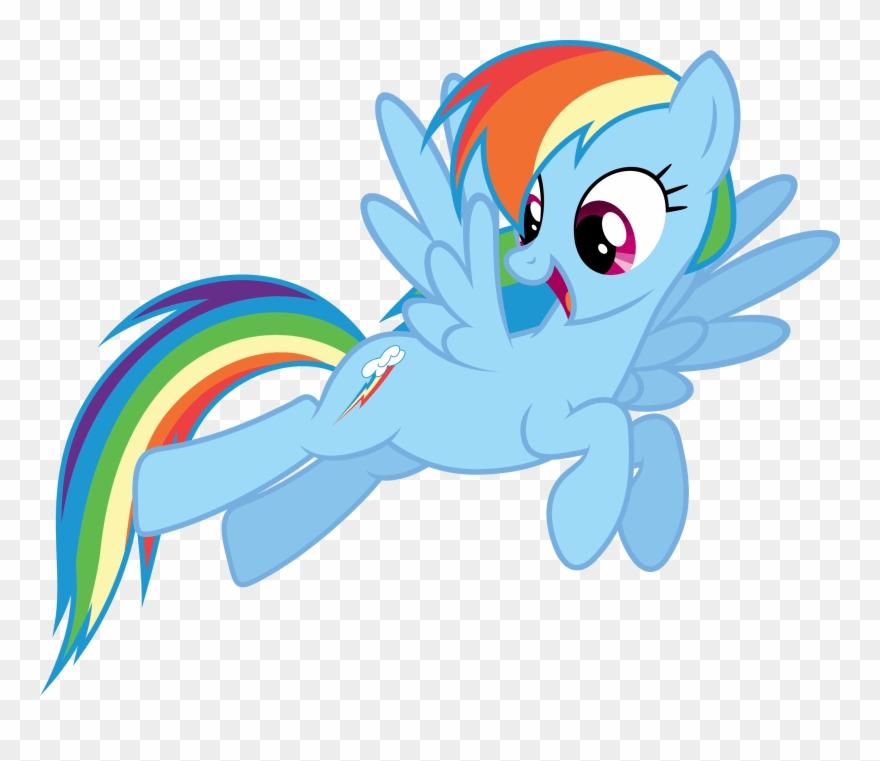Rainbow Dash Vector.