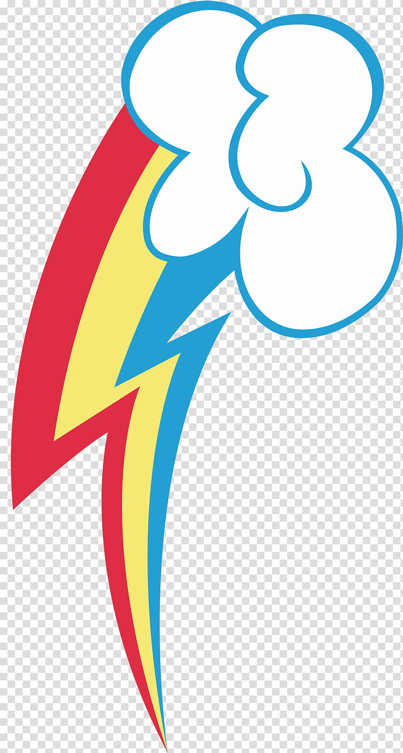 MLP FiM Rainbow Dash Cutie Mark transparent background PNG.
