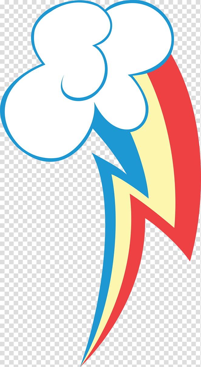 Rainbow Dash Cutie Mark, multicolored illustration.