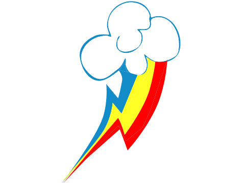 Download Rainbow Dash Cutie Mark PNG File For Designing.