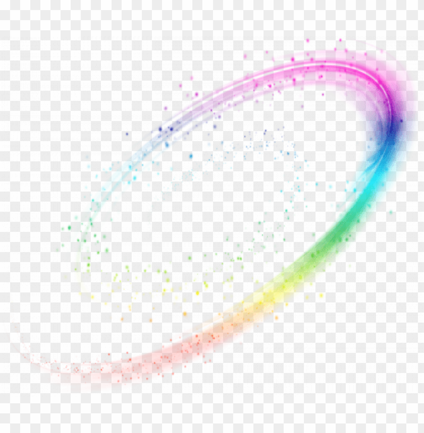Download oval rainbow effect clipart png photo.