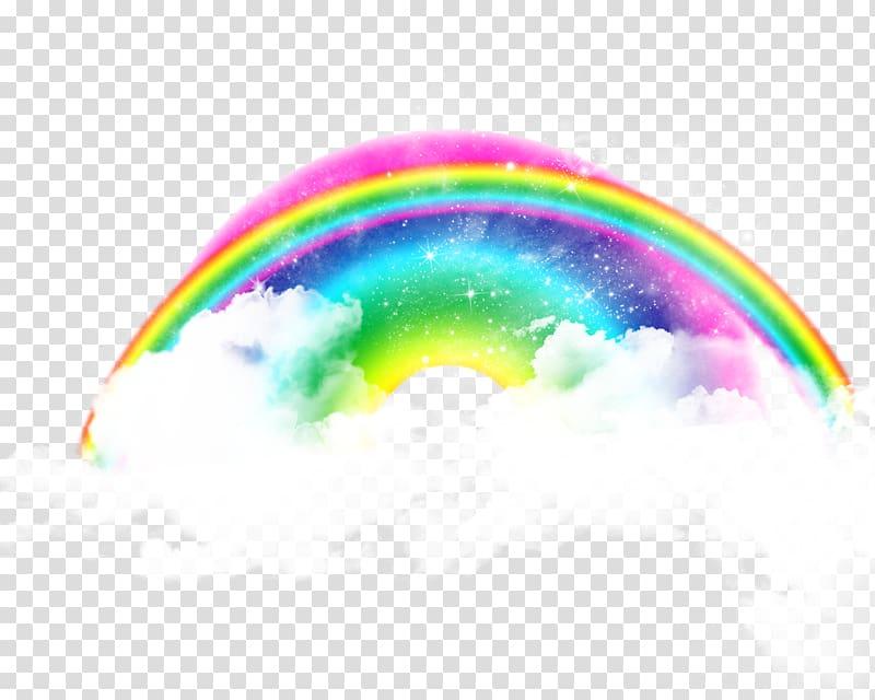 Rainbow illustration, Computer Icons Rainbow Cloud, Real.
