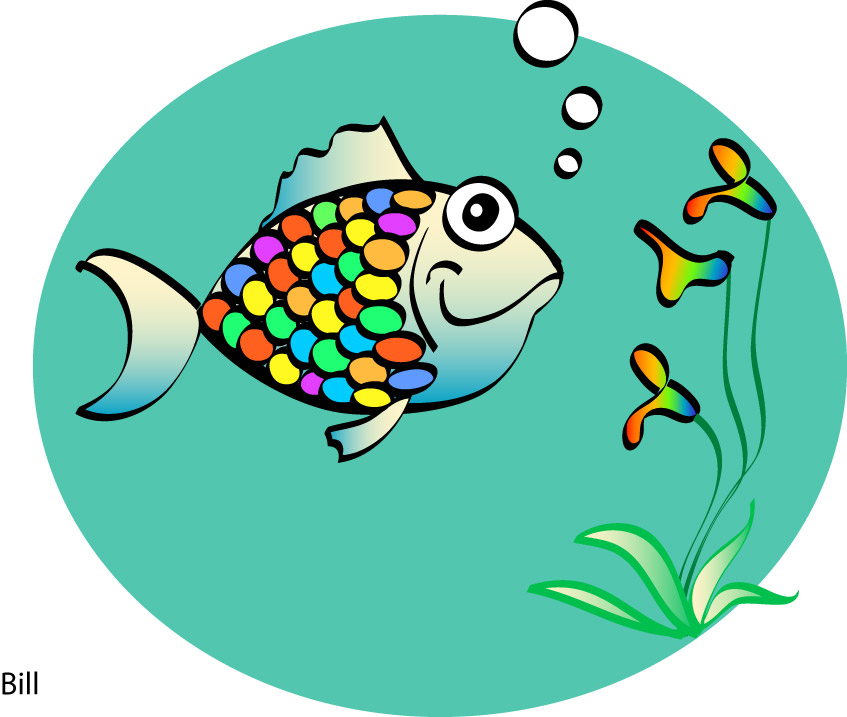 rainbow fish clipart clipground rainbow fish clip art free Rainbow Fish Clip Art Black and White