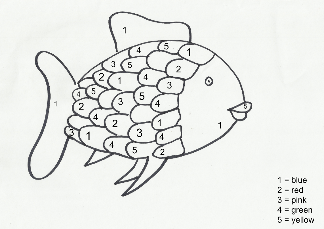 Rainbow Fish Template.
