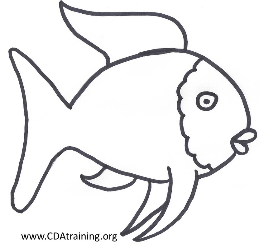Rainbow fish clipart black and white clipground for Rainbow fish coloring pages