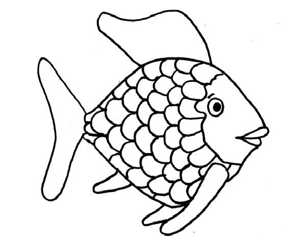 Fish black and white rainbow fish clipart black and white 2.