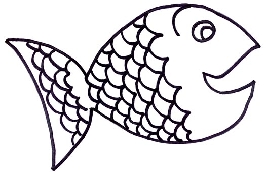 Fish black and white rainbow fish clipart black and white 5.