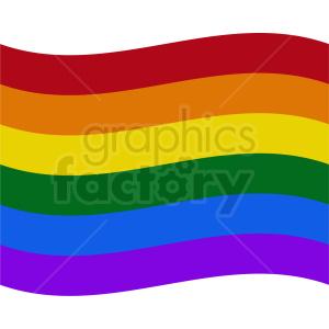 rainbow flag icon no border clipart. Royalty.