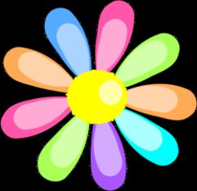 Rainbow Fireworks Cliparts.