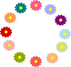Rainbow Flower Wreath Clip Art at Clker.com.