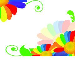 Rainbow flower Illustrations and Clipart. 9,477 Rainbow flower.