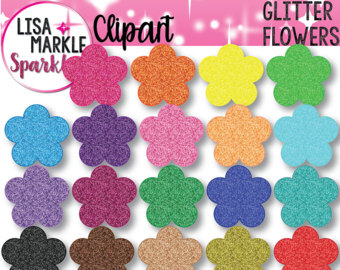 Spring Clipart, Garden Clipart, Flowers Clipart with Leaves and.