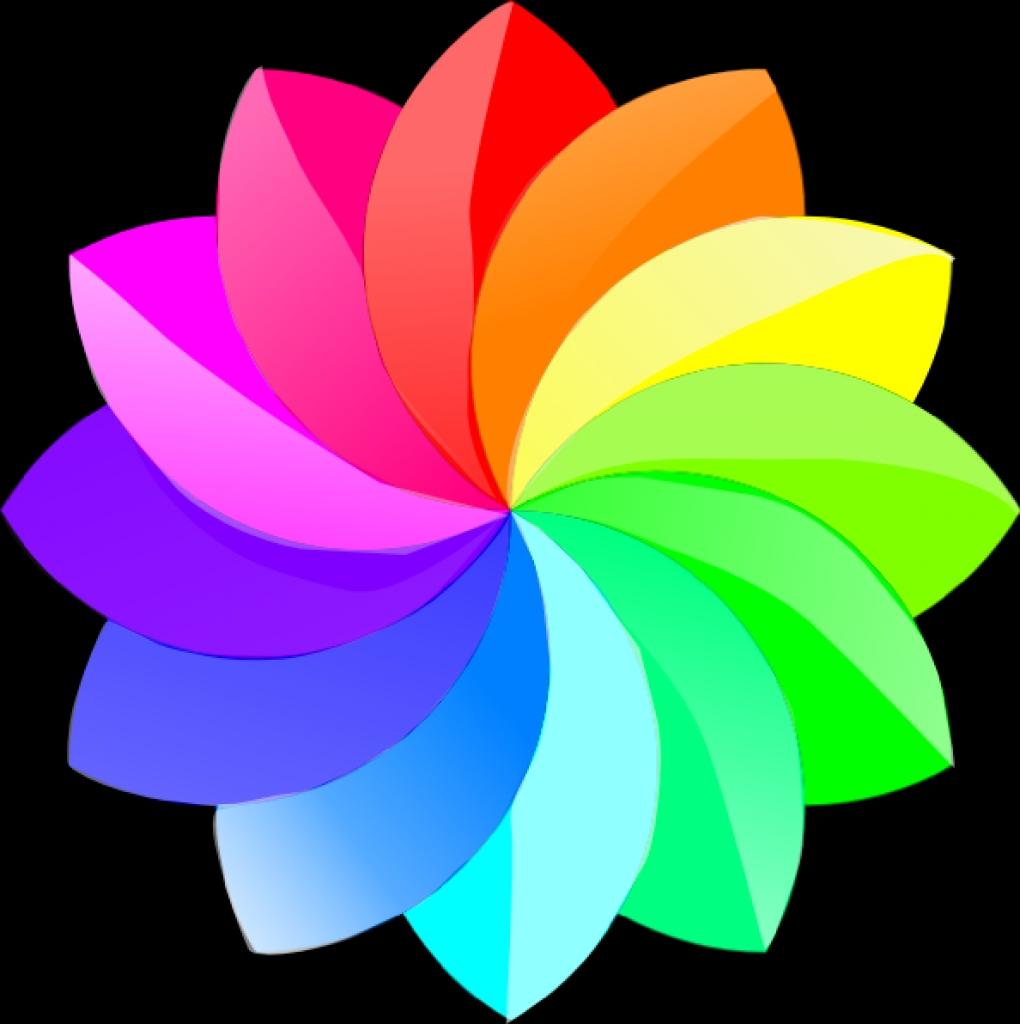 shaded rainbow flower clip art at clker vector clip art.