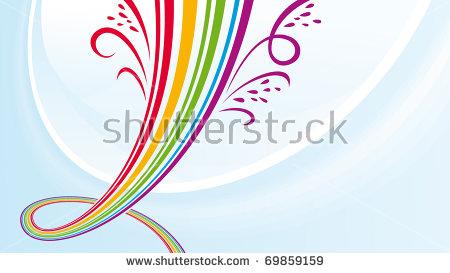 Rainbow Fountain Stock Photos, Royalty.
