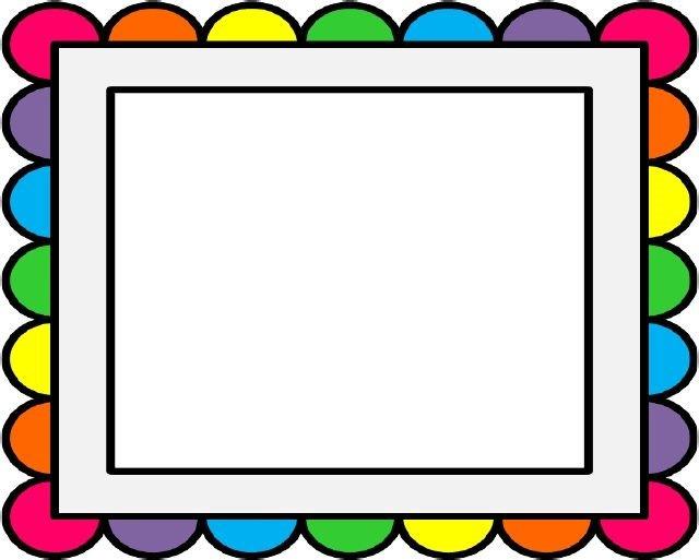 Rainbow border.