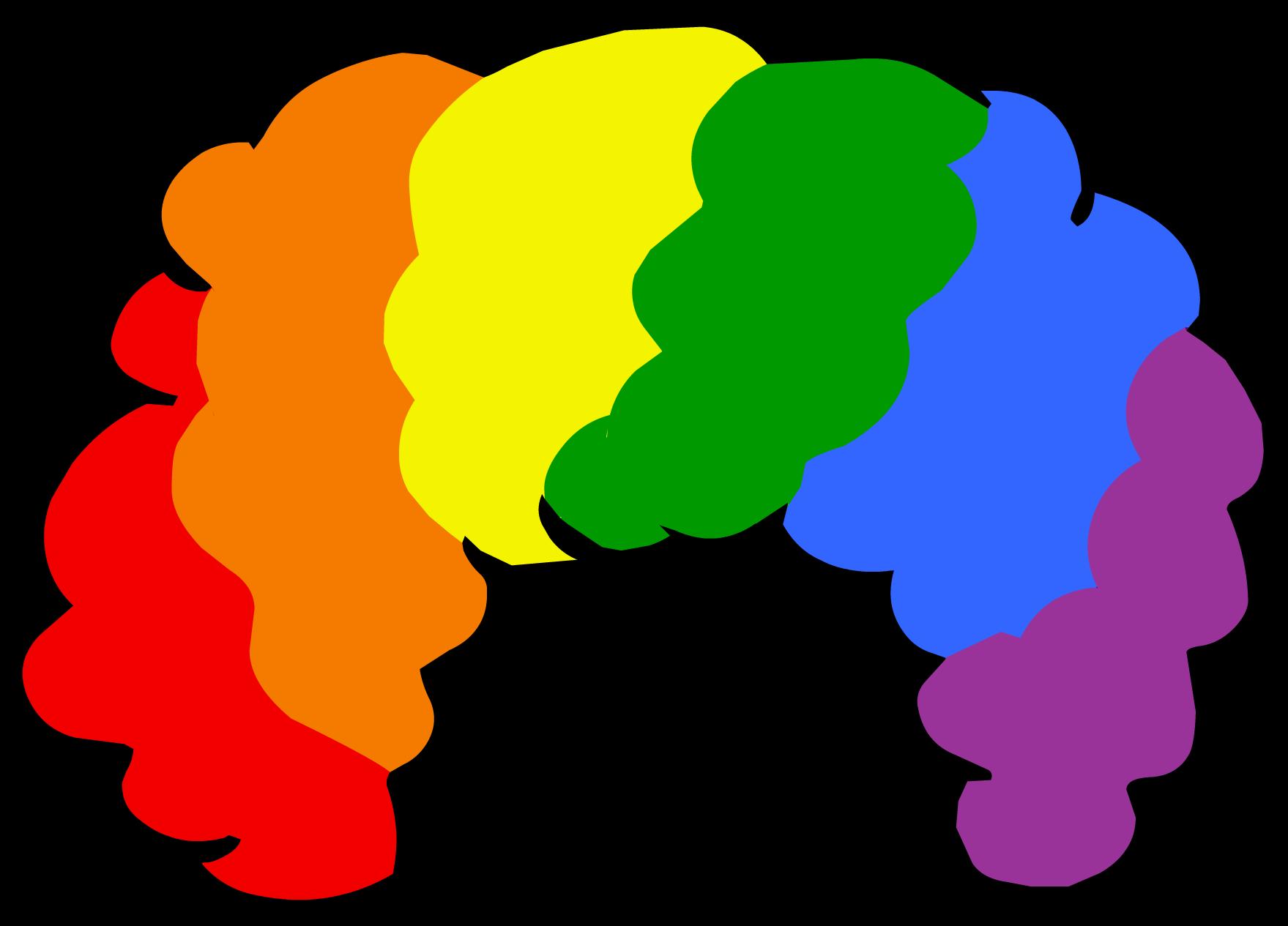 Rainbow Hair Clipart.