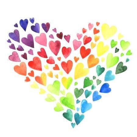 Rainbow heart clipart 2 » Clipart Portal.