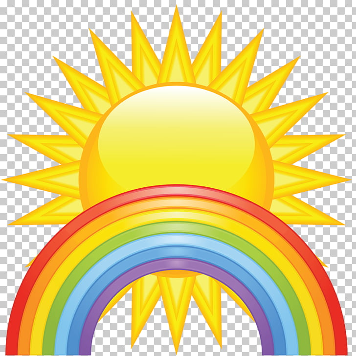 Spring Free content , Sun rainbow icon material free to pull.