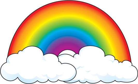 Rainbow dashboard icon clip art.