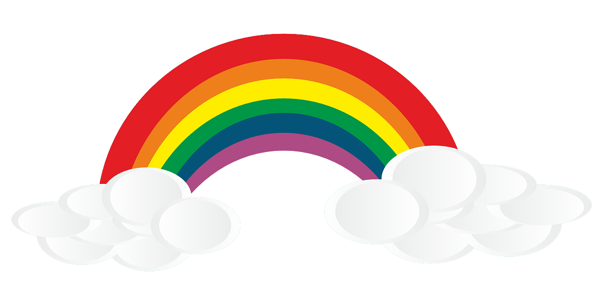 Free to Use & Public Domain Rainbow Clip Art.