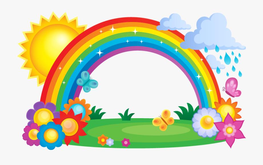 Rainbow Cloud Clip Art.