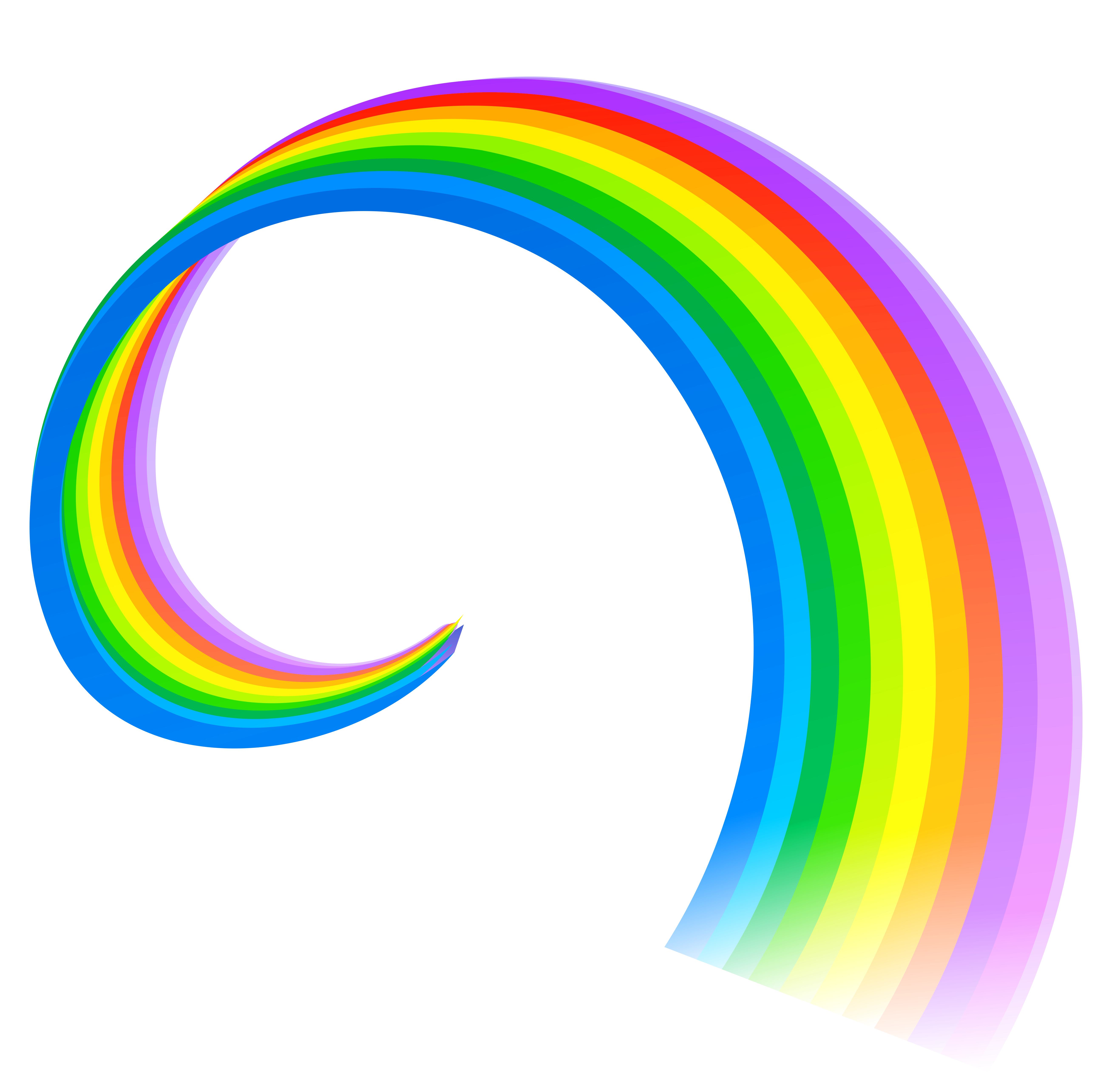 Rainbow Line PNG Clipart.
