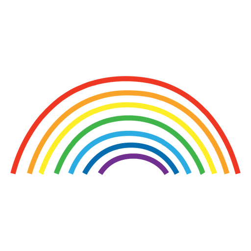 hand drawn rainbow lines.