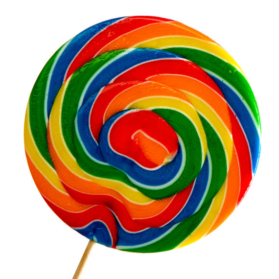 Rainbow lollipops clipart.