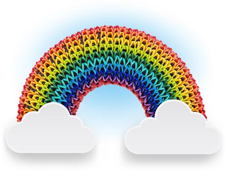 Somewhere Over the Rainbow Loom.