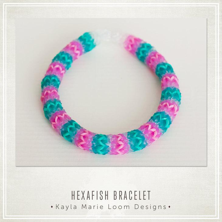 Hexafish Rainbow Loom Bracelet Party Favors.