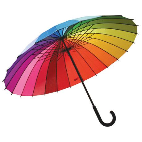 Rainbow Color Spectrum Umbrella at Signals.