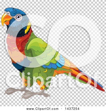 Clipart of a Cute Rainbow Lorikeet Bird.