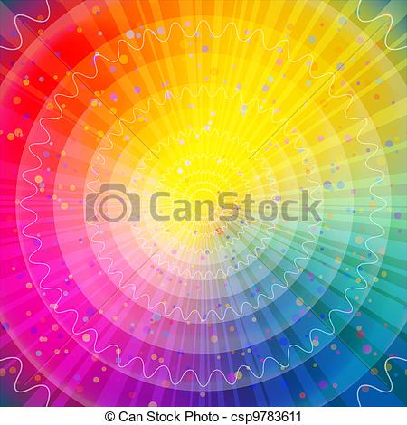 Vector Clip Art of Background abstract rainbow.