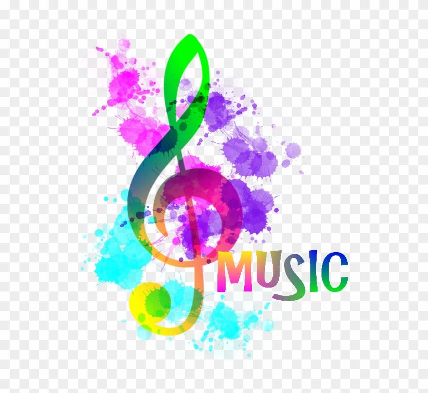 Music Notes Clipart Rainbow.