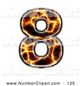Royalty Free Electric Symbol Stock Number Designs.