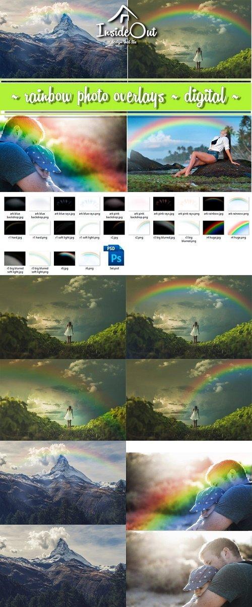 Rainbow Overlay. Photoshop Backdrop Clipart » NitroGFX.