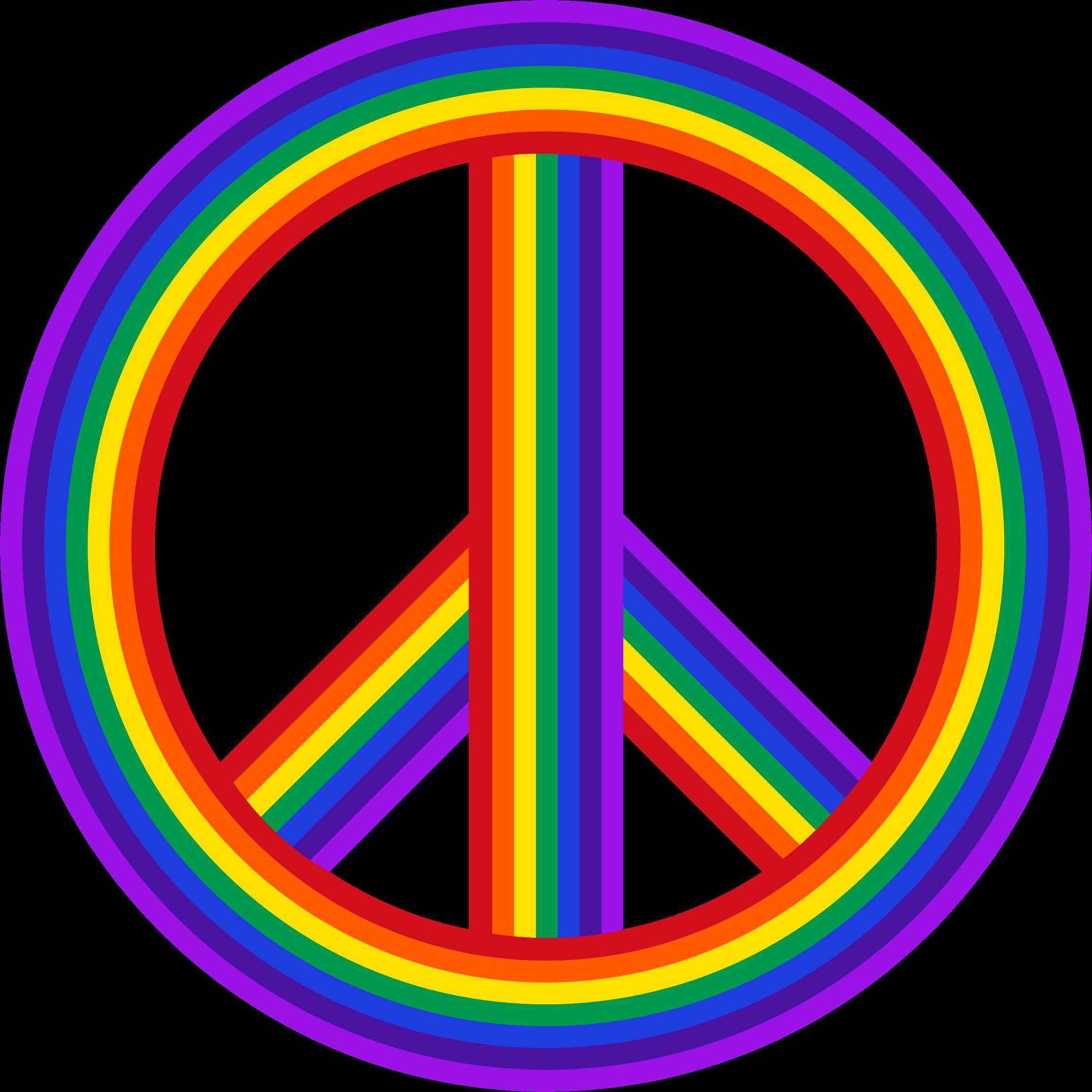 Peace Sign Clipart Rainbow.