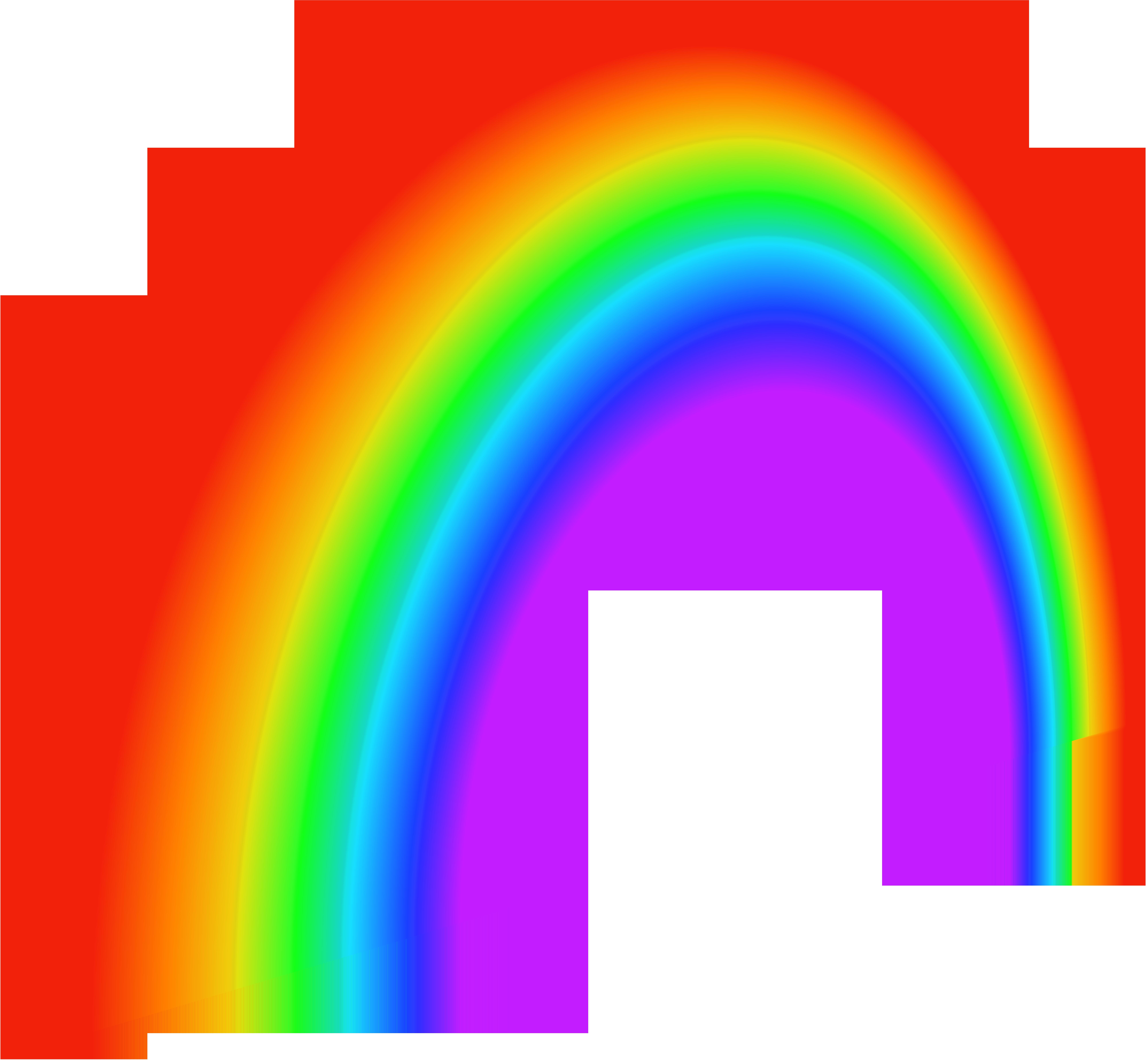 Rainbow PNG Free Clip Art Image.